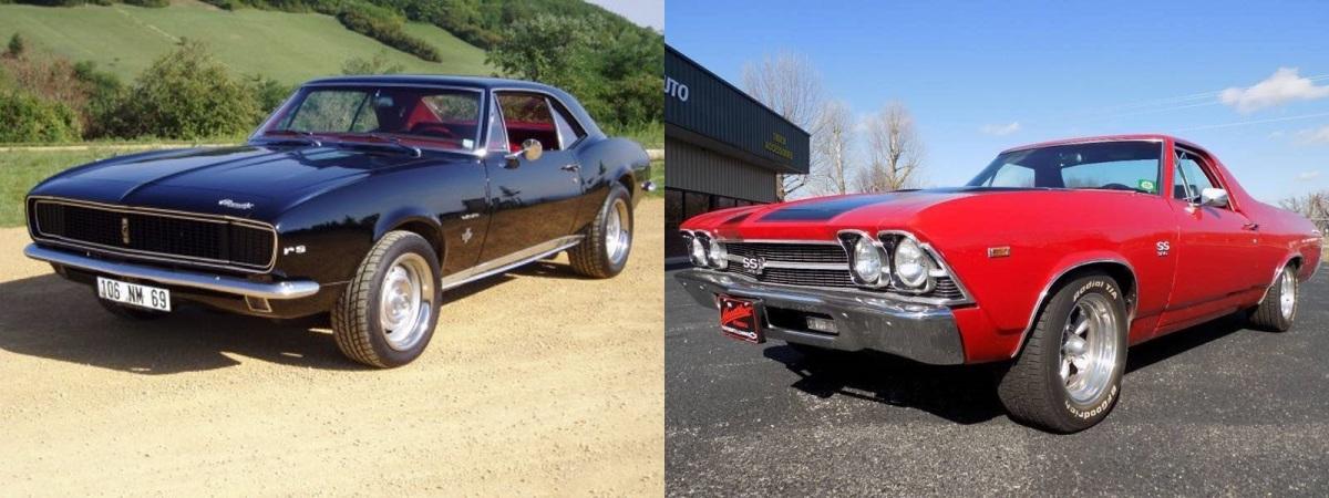 Chevrolet Camaro SS 1967 и Chevrolet El Camino 1969