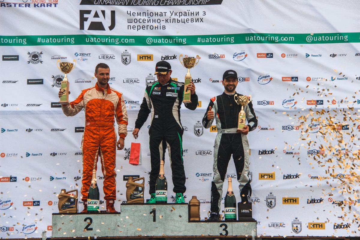 Первое место - Игорь Скуз, второе -Андрей Евтушенко и третье -Владимир Дрогомирецкий.
