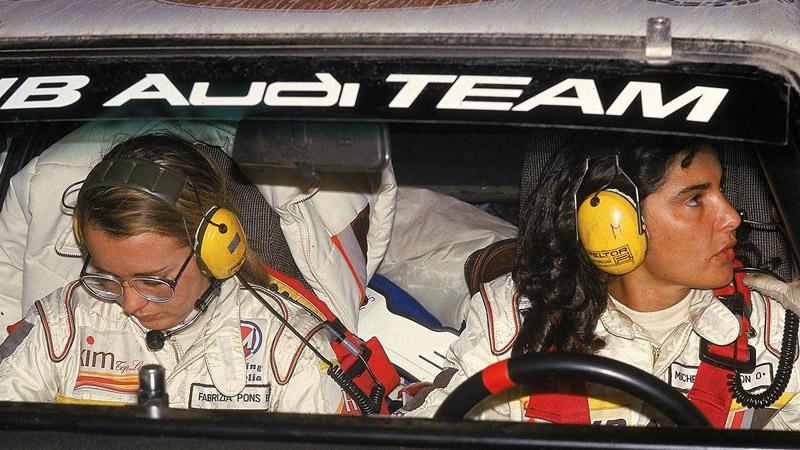 Мишель Муттон за рулем раллийного Audi