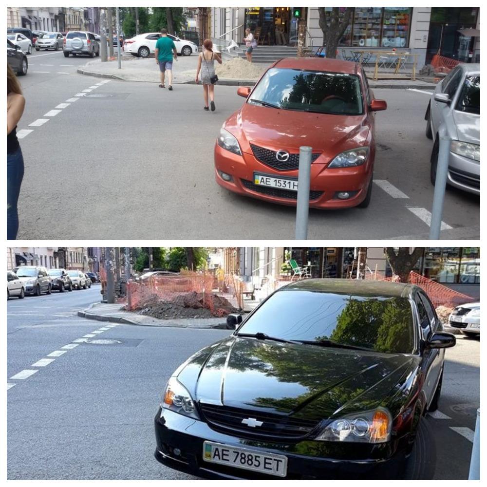 Mazda 3 с номером АЕ 1531 НІ и Chevrolet Evanda с номером АЕ 7885 ЕТ
