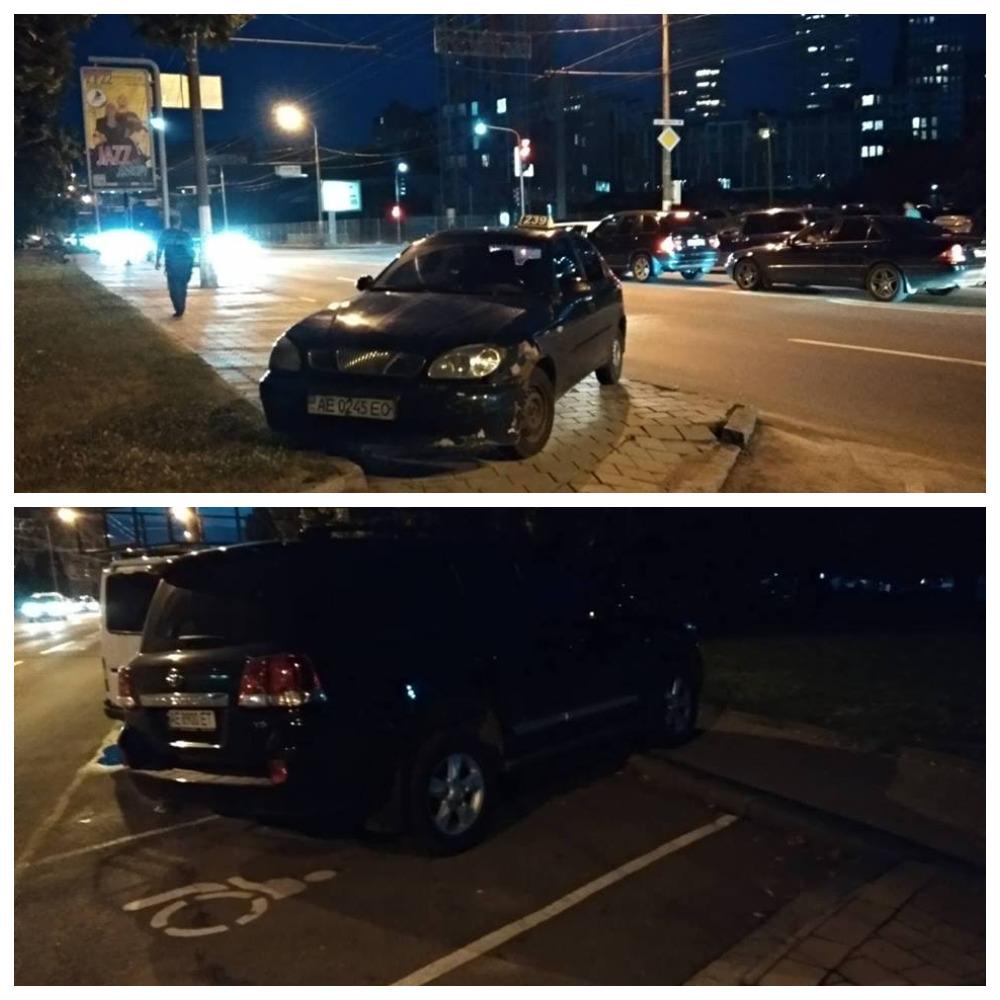 Daewoo Lanos с номером АЕ 0245 ЕО и Toyota Land Cruiser с номером АЕ 8930 ЕТ