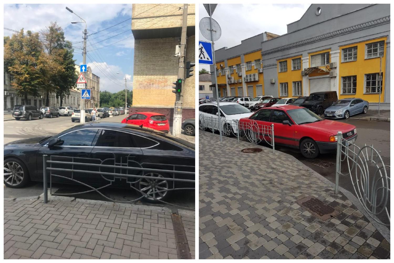 Audi 80 и Audi A7 с номером АМ 1007 ВЕ