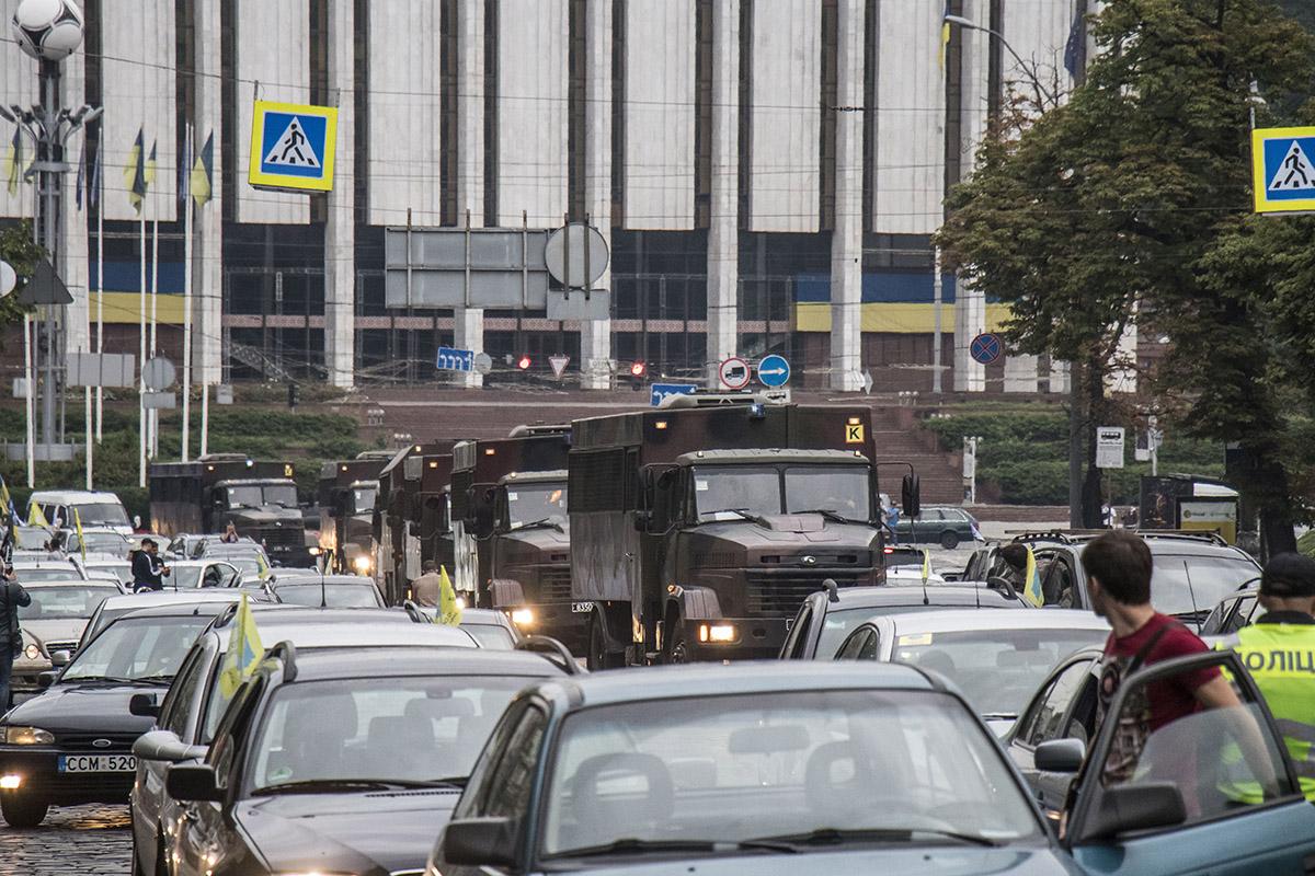 """""""Евробляхеры"""" с самого утра митингуют"""