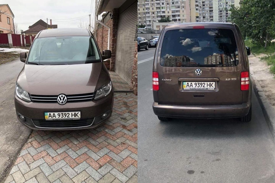 Угнанный Volkswagen Caddy