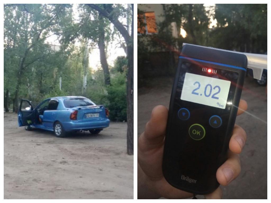 В Днепре активисты Pitbull поймали пьяного водителя Daewoo