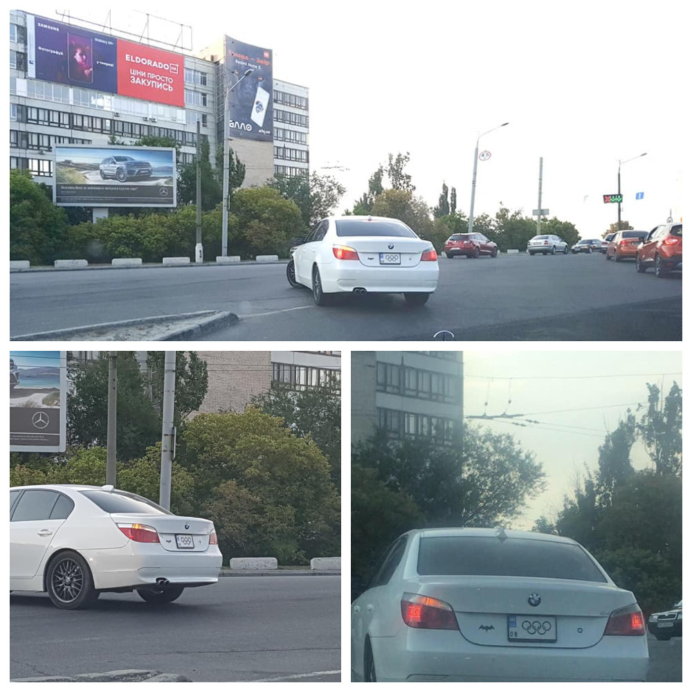 """BMW 5 series с """"олимпийским"""" номером"""