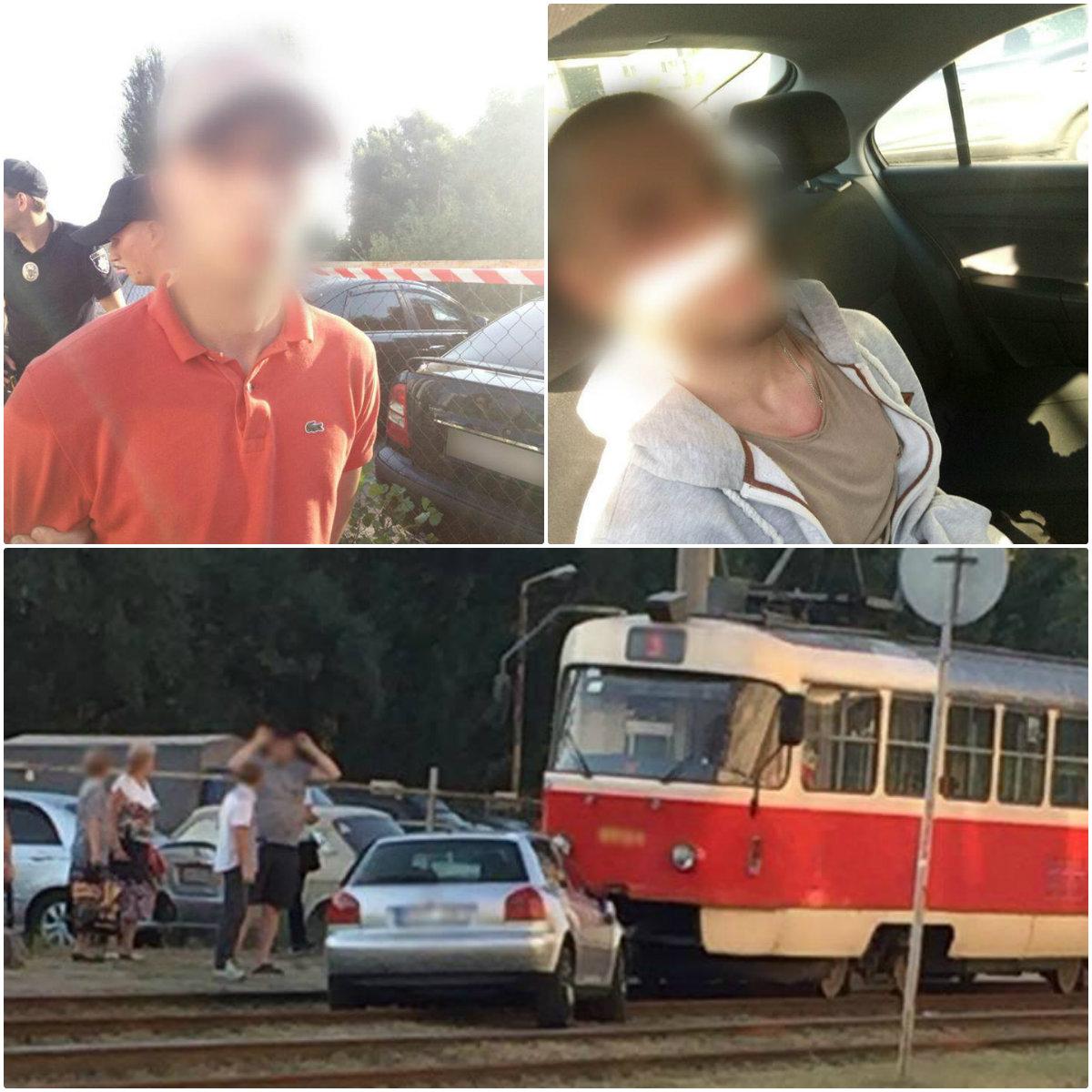 Полиция задержала водителя и пассажира Audi, которые сбили мужчину на пешеходном в Киеве