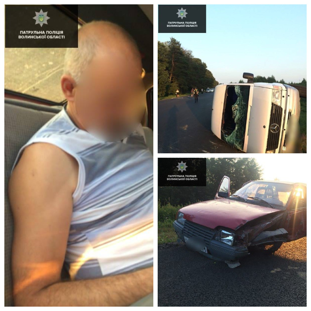 В Волынской области пьяный водитель Opel столкнулся с маршрутным автобусов