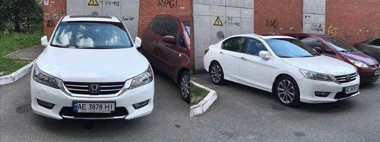 Угнанный Honda Accord 2013 года