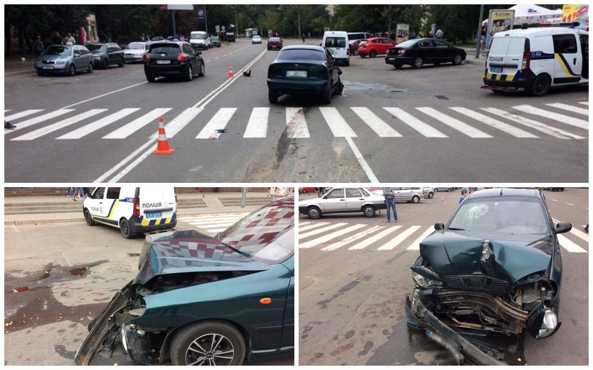 В Броварах столкнулись автомобили Daewoo и Ford.