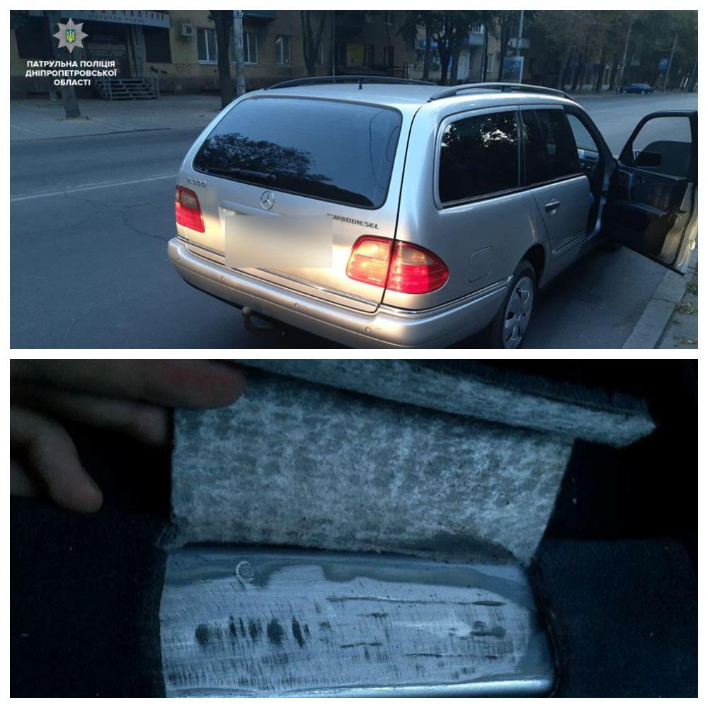 В Днепре задержали водителя Mercedes Benz Е300 с поддельными документами