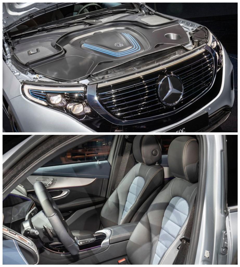 Mercedes EQC оснащен двумя электродвигателями с суммарной мощностью 402 л.с.