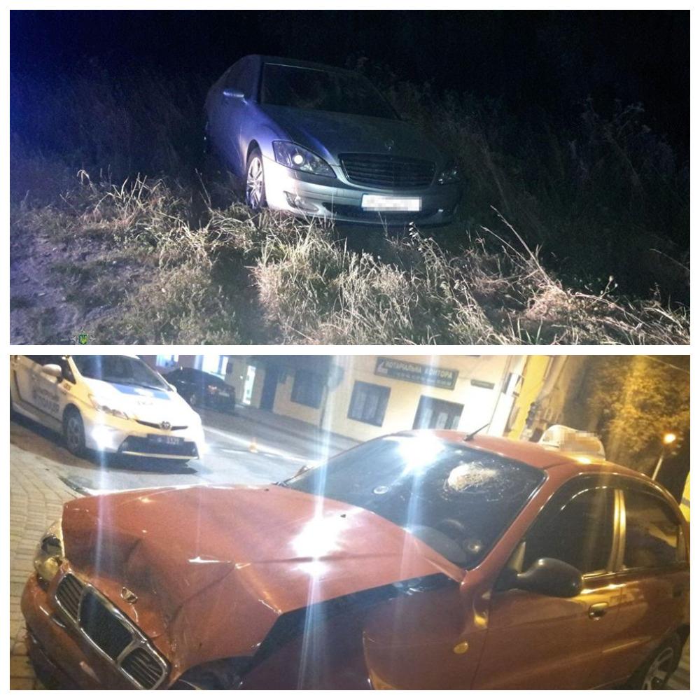 В Тернополе пьяный водитель Mercedes-Benz столкнулся с Daewoo Lanos