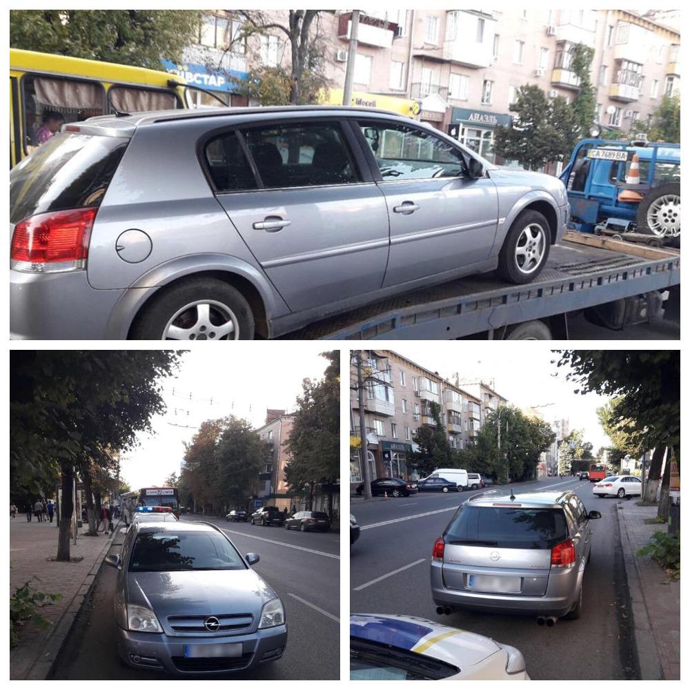 В Черкассах пьяный водитель сбежал, оставив автомобиль.