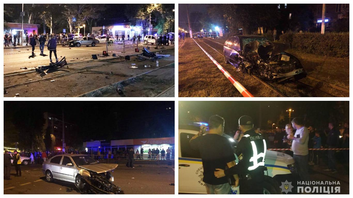 В Одессе столкнулись автомобили BMW и Skoda