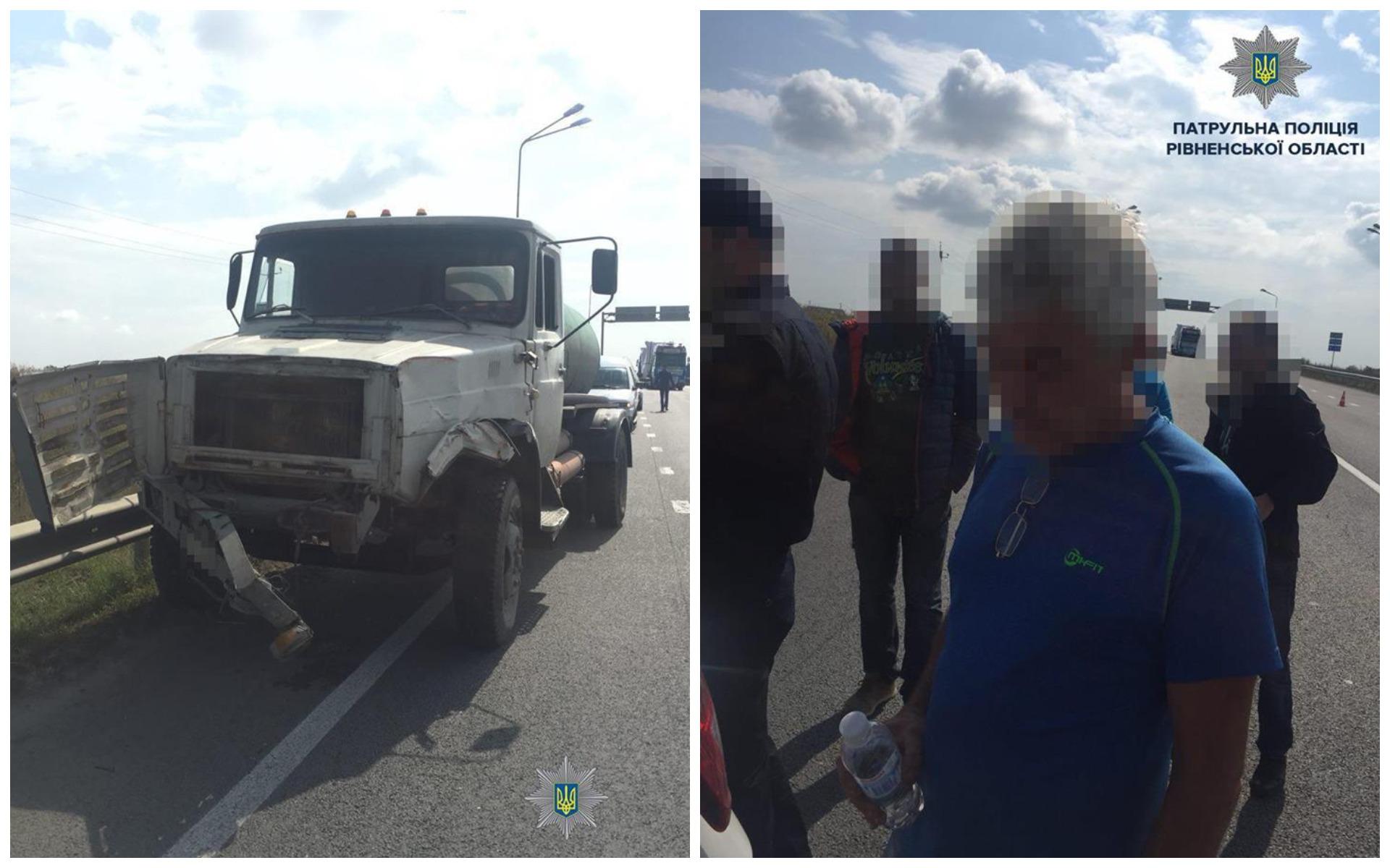 На трассе Киев-Чоп вблизи села Колоденки, что в Ровненской области, водитель фуры совершил ДТП.