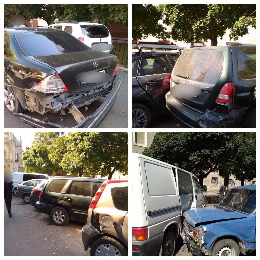 В результате столкновения пострадали около 10 автомобилей