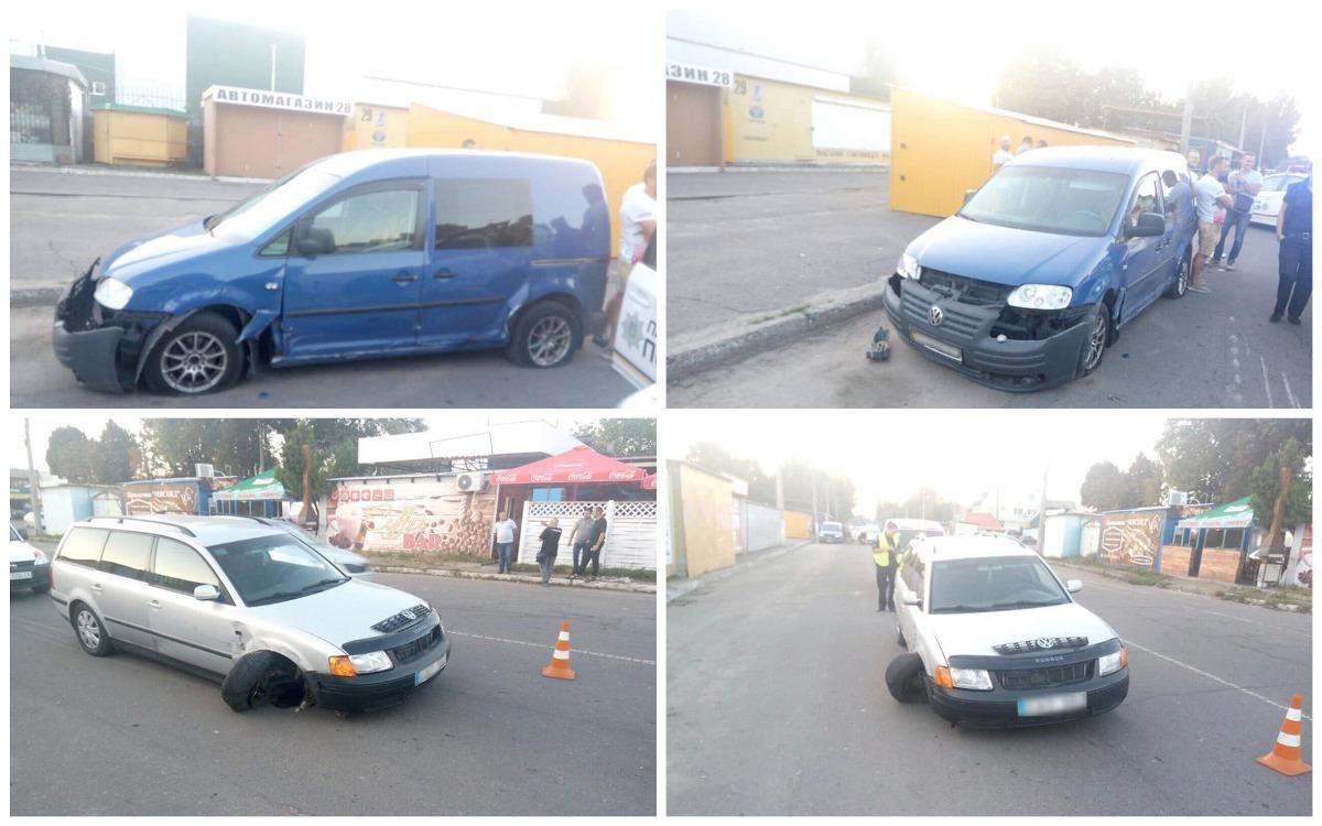 В Черкассах пьяный водитель Volkswagen устроил ДТП.