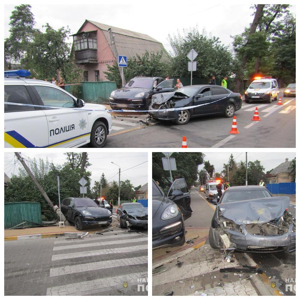 В Ирпене произошло ДТП с участием Porsche Cayenne и Сhevrolet Еpica, в результате которого погиб случайный свидетель