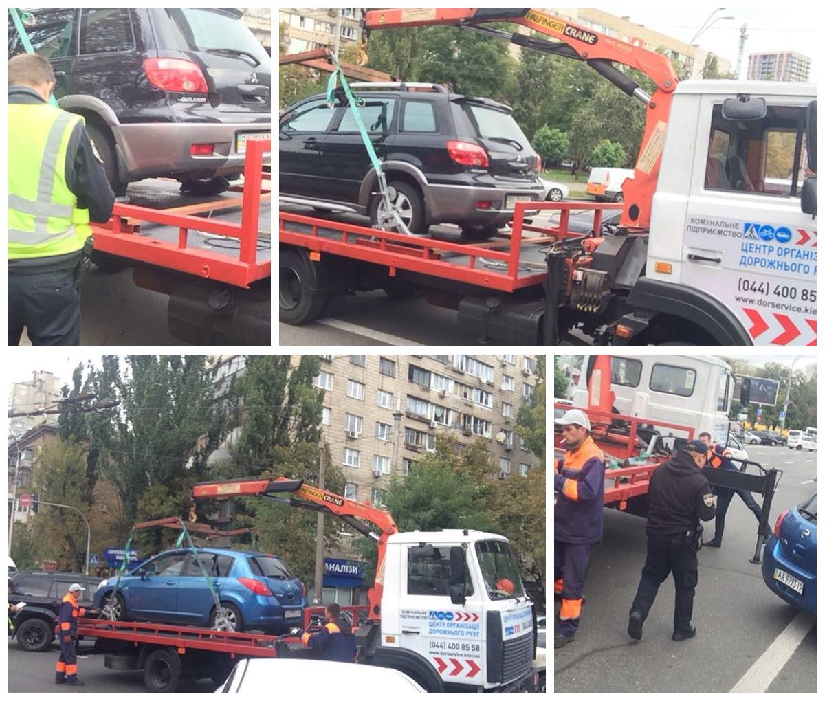 В Киеве эвакуируют нарушителей правил парковки