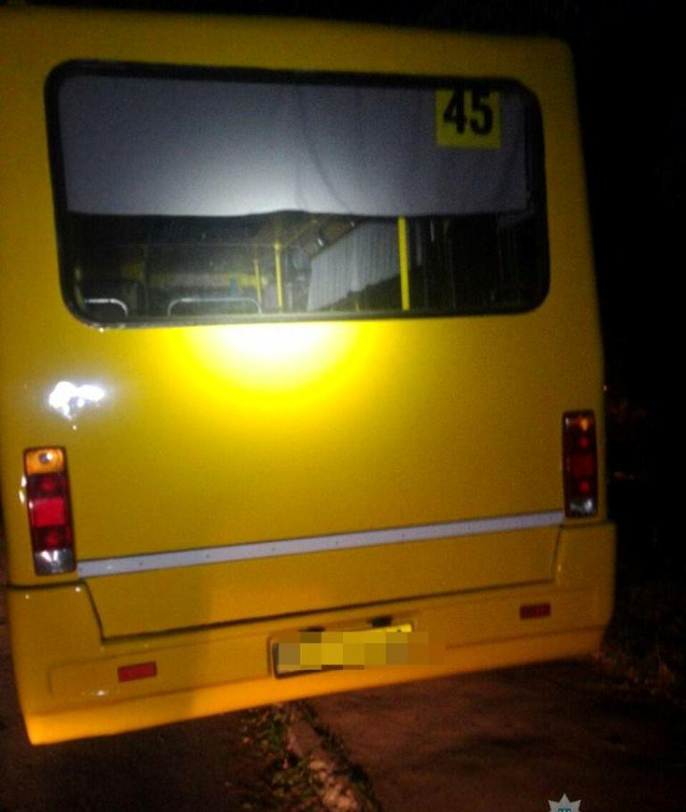 Пьяный водитель маршрутного такси №45 лишился прав на управление транспортного средства.