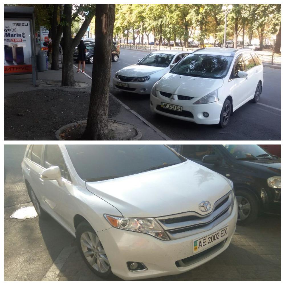 Mitsubishi Grandis с номером АЕ 3733 ВН, Subaru Impreza с номером АЕ 9565 СЕ, Toyota Venza с номером АЕ 2002 ЕХ