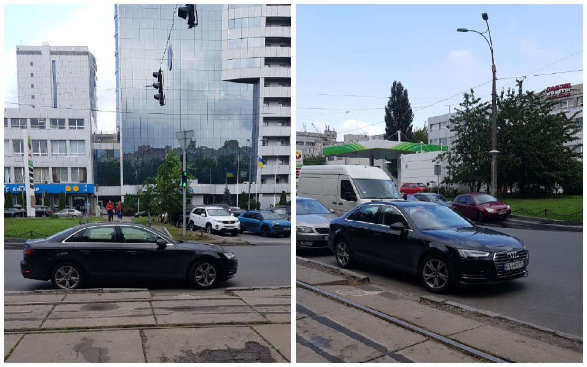 Audi А4 с номером АА 5481 ТК