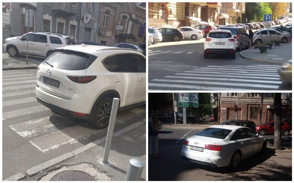 Любители парковать свои авто на пешеходном
