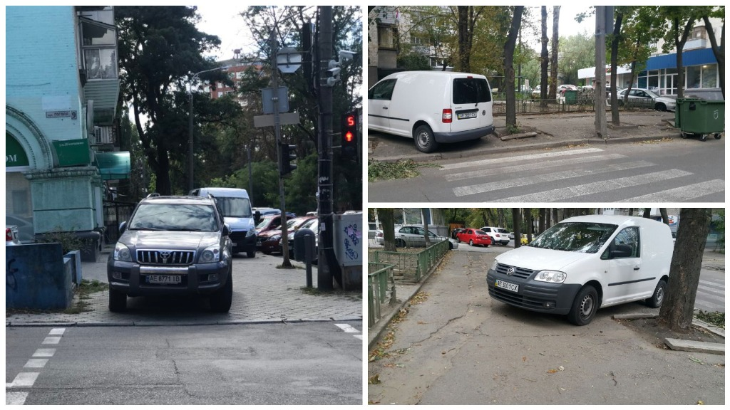 Любители парковаться на переходах