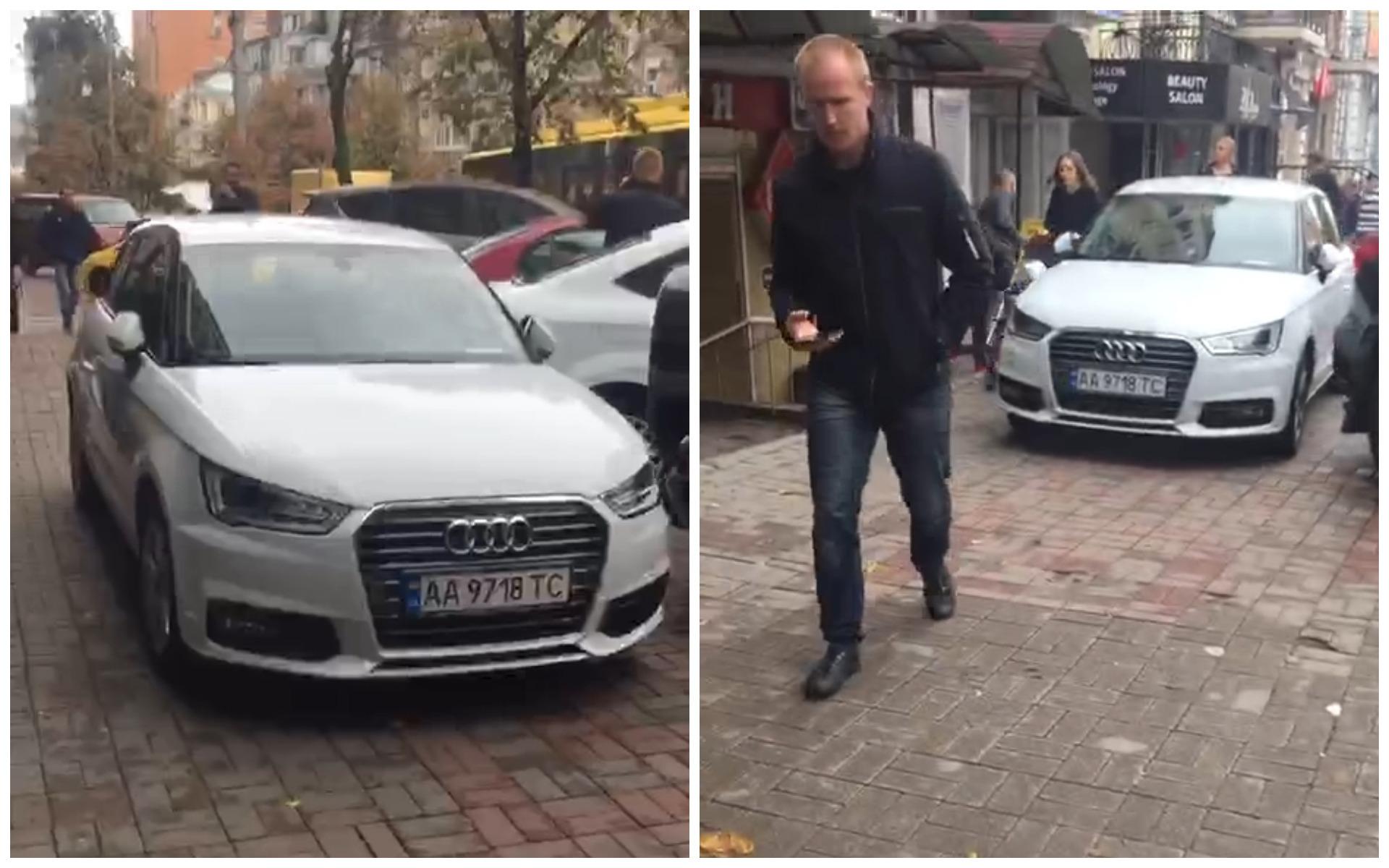 Audi A4 с номером АА 9718 ТС