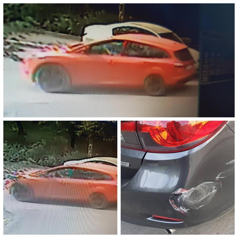 На улице Маршала Судца, 7 Ford красного цвета поцарапал припаркованный автомобиль