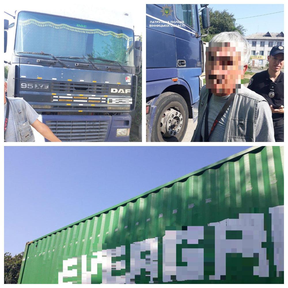 Водитель DAF не справился с управлением и повредил контейнером крышу частного дома.