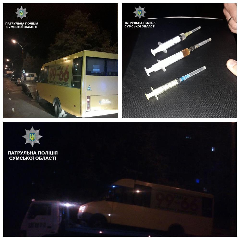 В сумах водителя маршрутки подозревают в приеме наркотиков