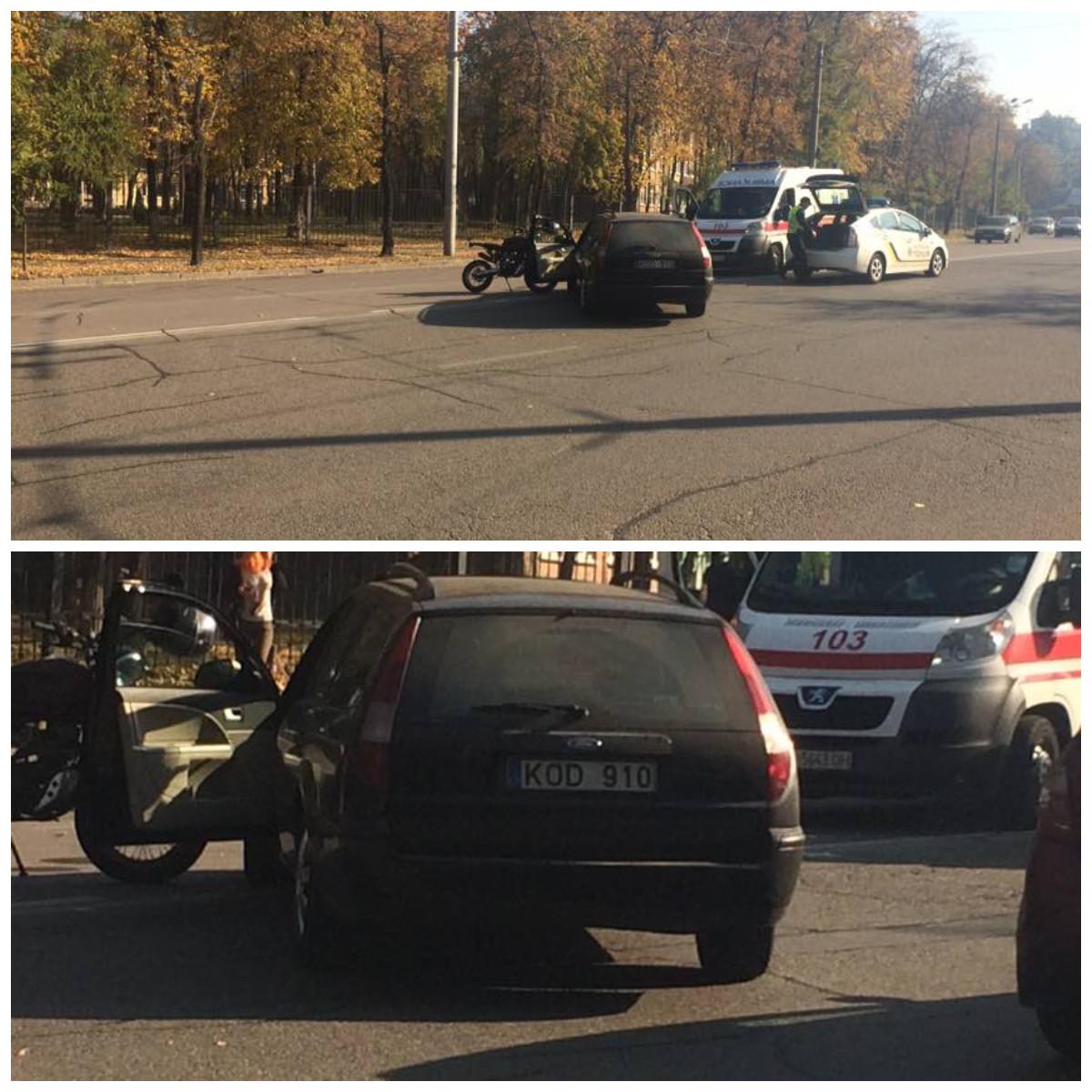 "Из-за нарушения ПДД водителем ""Форда"" пострадал мотоциклист"