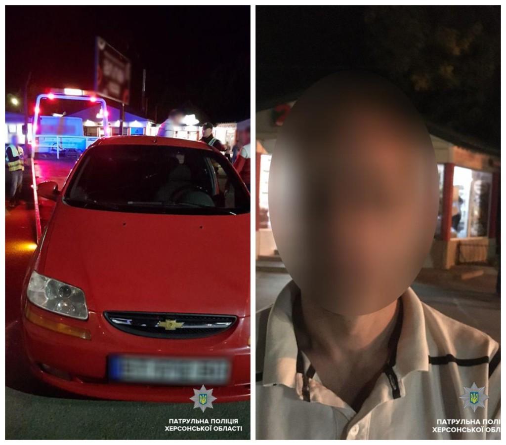 Пьяного водителя задержала полиция Херсона