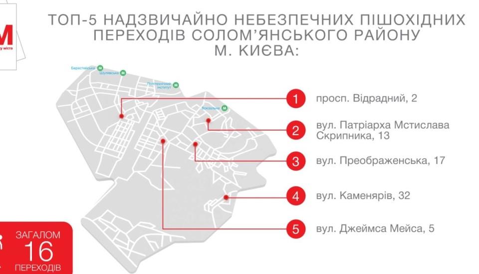 Опасные переходы в Соломянском районе