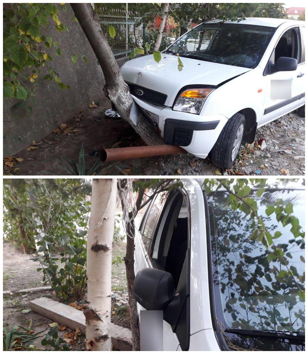 Водитель Ford Fusion, находясь в наркотическом опьянении, врезался в дерево