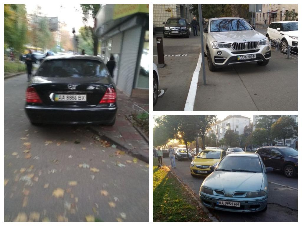 Столичные мастера парковки на тротуарах