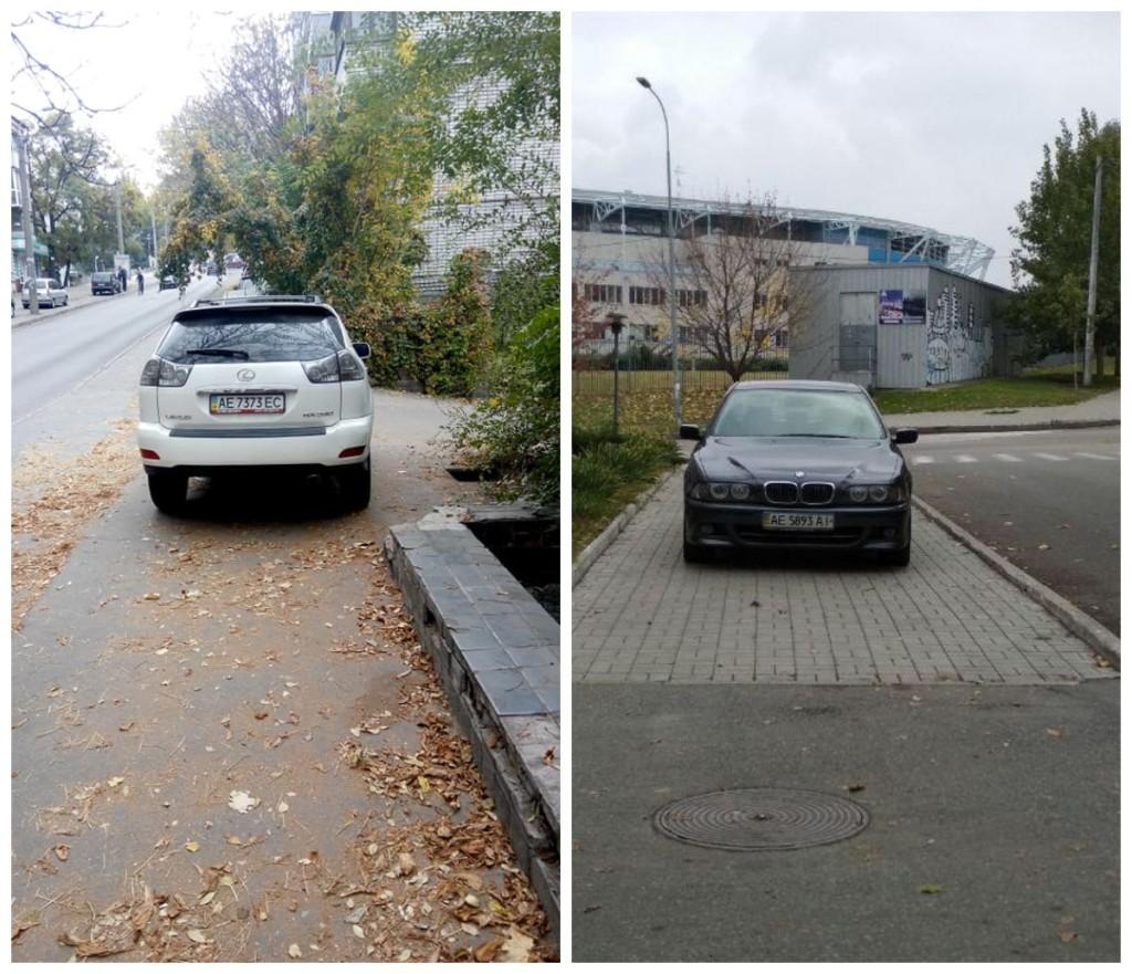 Водители этих агрегатов забыли о предназначении тротуара