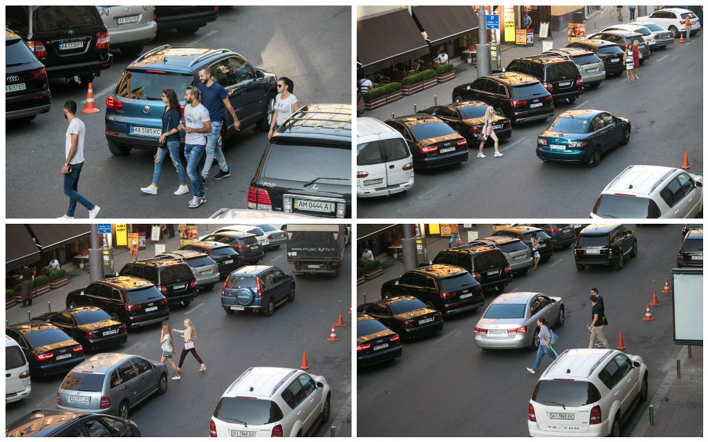 Молодые люди переходят дорогу вне перехода