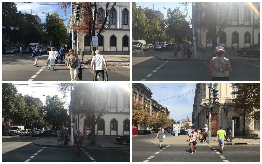 Пешеходы торопятся и идут на красный