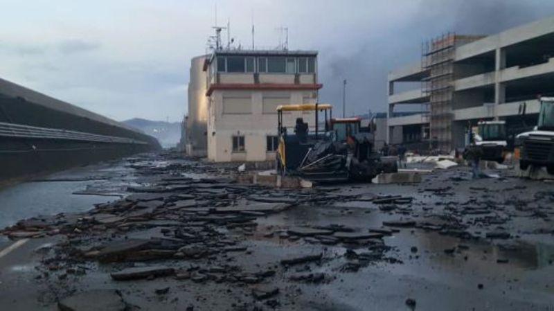 Пожар в порту Савоны