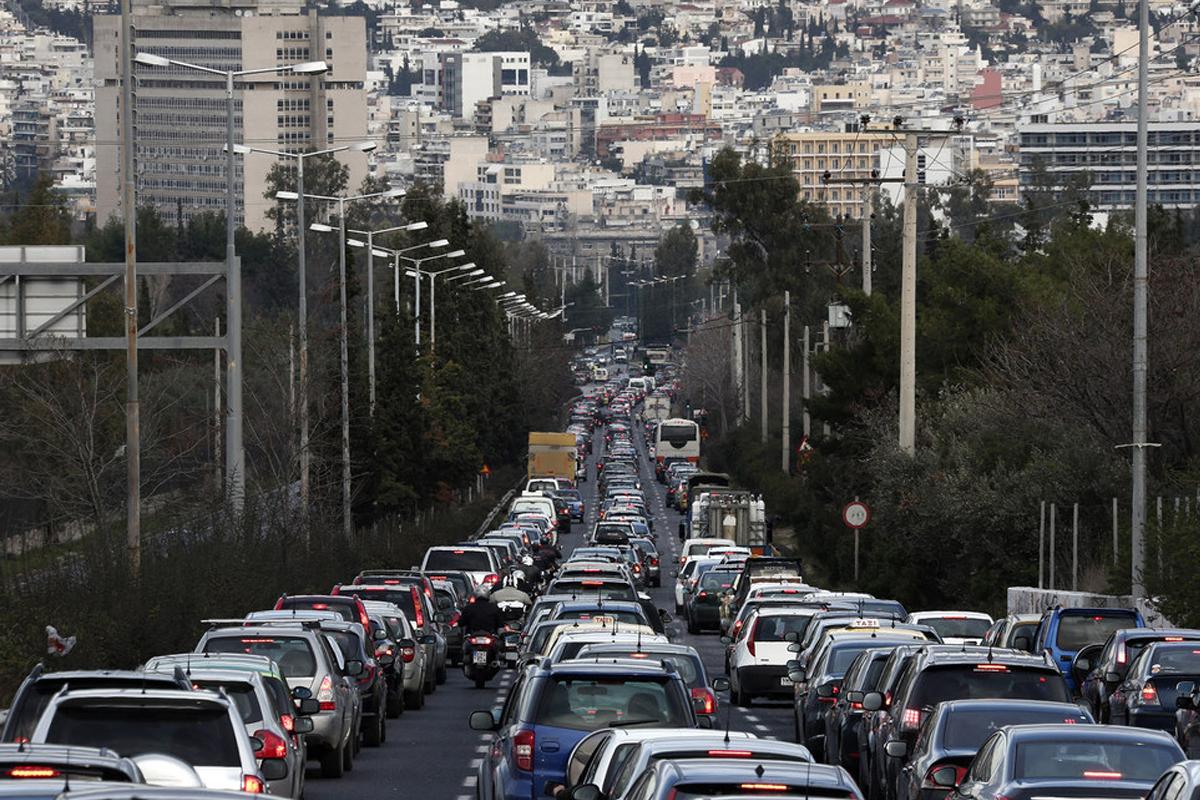 Проблема с пробками в Афинах