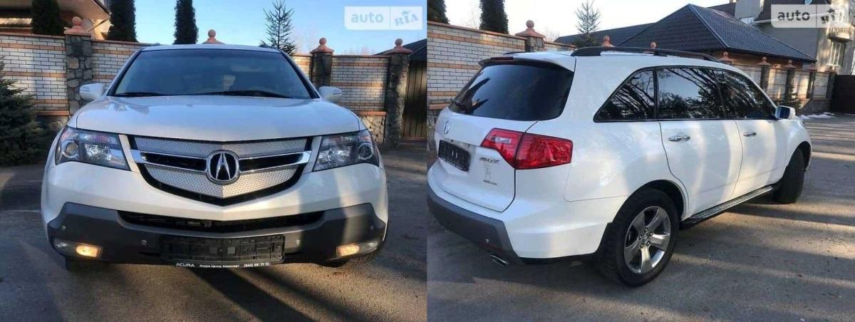 Угнанная Acura MDX