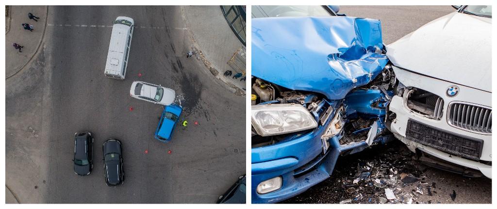 Столкнулись Nissan и BMW