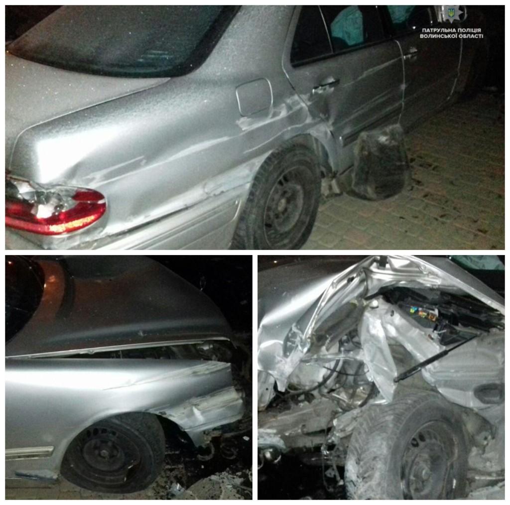 Во время пьяного ДТП сильно пострадал автомобиль