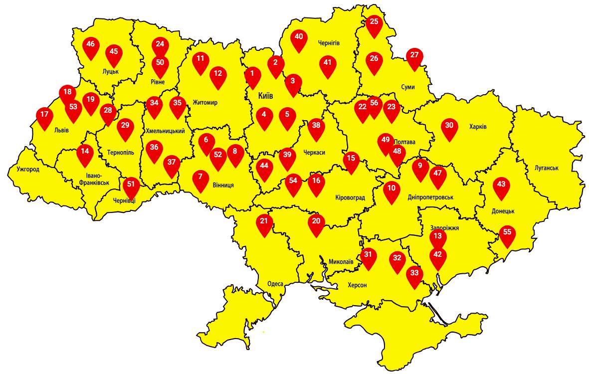 Карта мест, в которых активисты ограничили движение