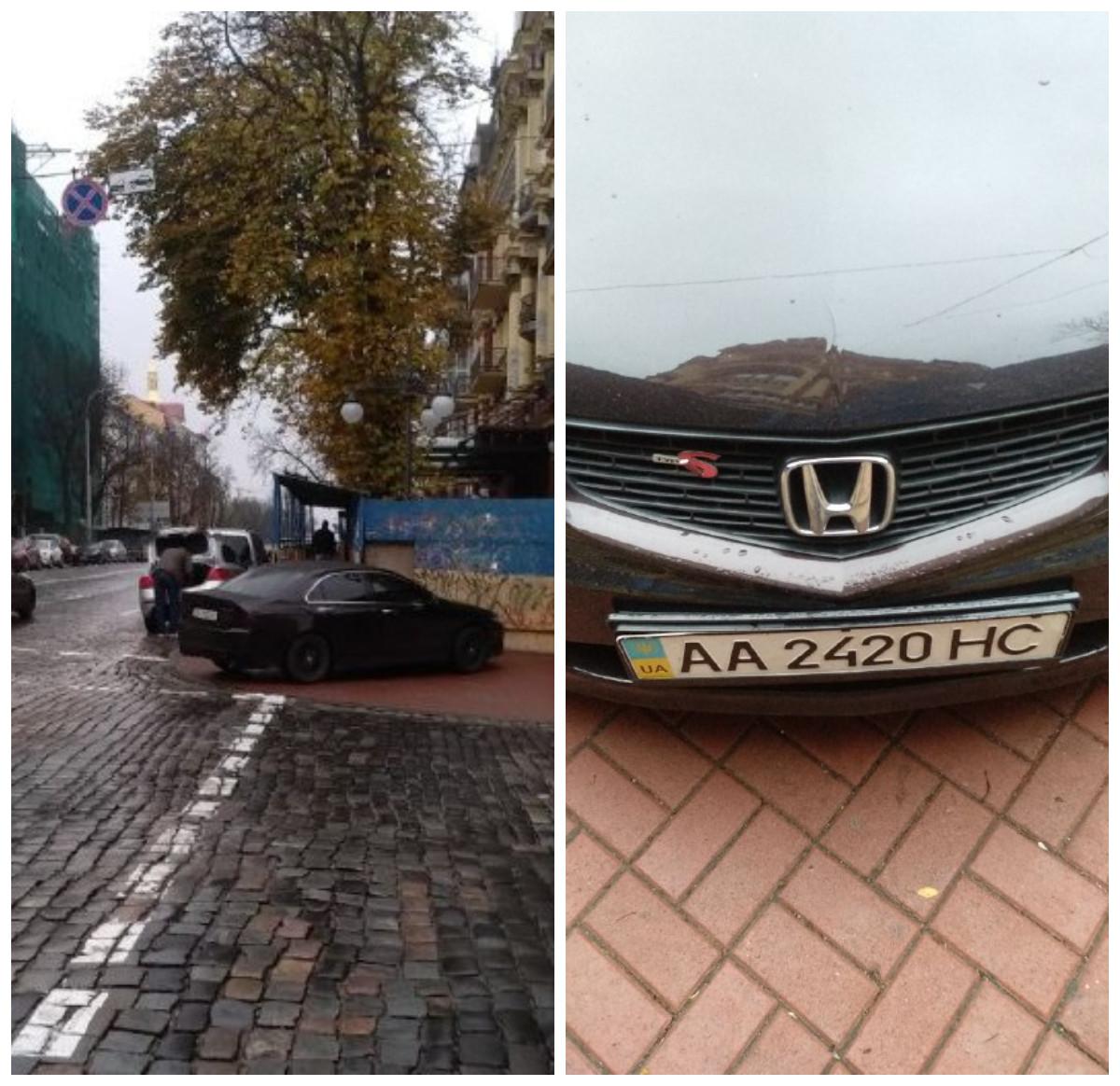Автохам на улице Прорезной