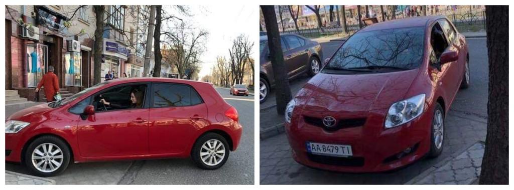В Киеве угнали Toyota Auris
