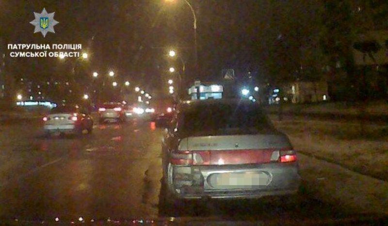 Пьяный водитель нарушил ПДД